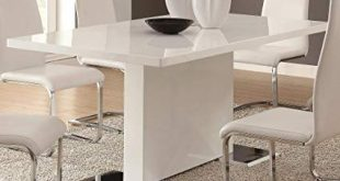 Amazon.com - Coaster Home Furnishings Glossy White Contemporary