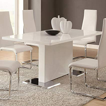 Affordable Chic White Dining Room Table