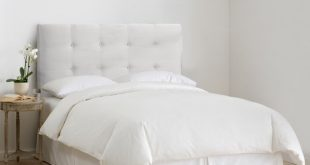 Shop Skyline Furniture Upholstered Headboard in Micro-Suede White