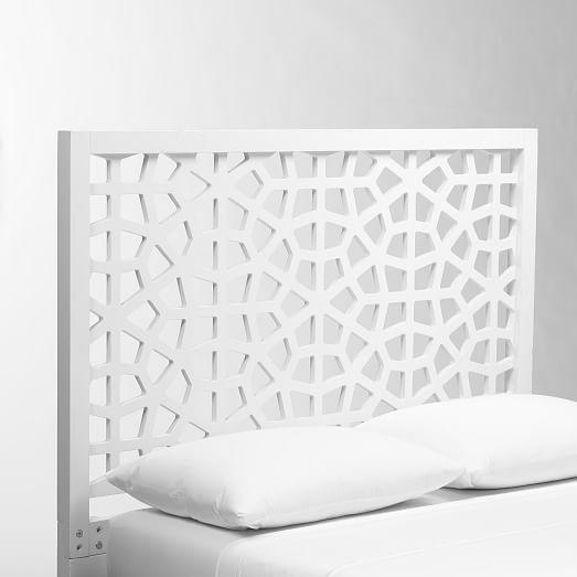 Morocco Headboard - White   west elm