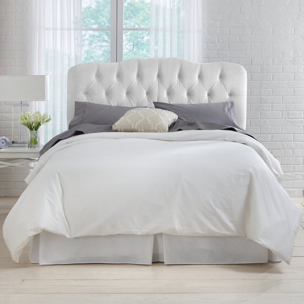 Shop Skyline Furniture White Velvet Tufted Headboard - Free Shipping