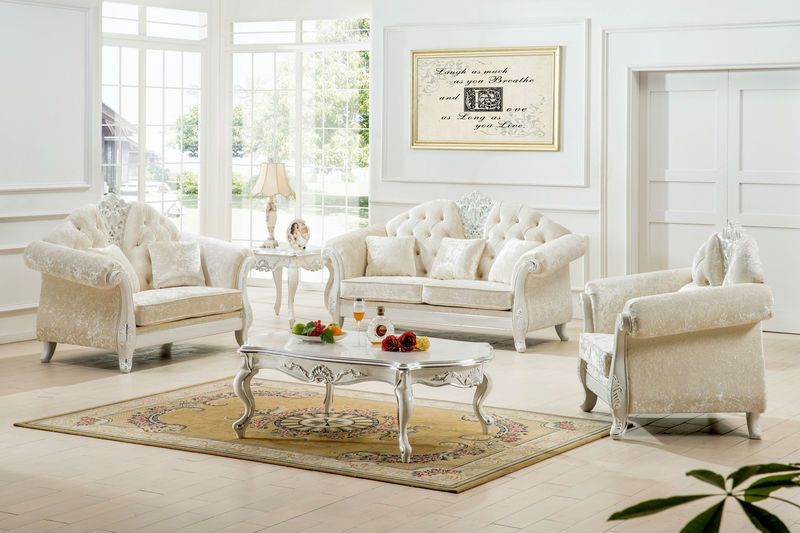 White Living Room Furniture Elisa Ideas - mattressxpress.co
