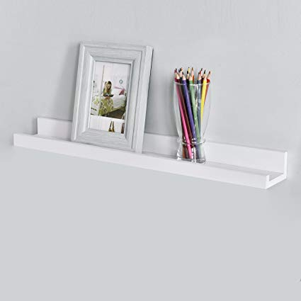 Amazon.com: WELLAND Picture Ledge Shelf White Picture Shelves with