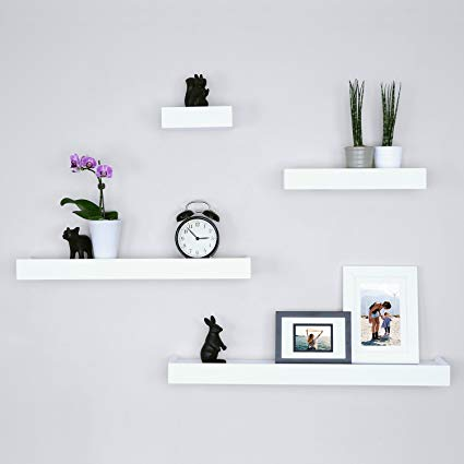 Amazon.com: Ballucci Modern Ledge Wall Shelves, Set of 4, White