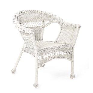 White Resin Wicker Chairs | Wayfair