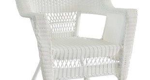 Indoor White Wicker Chairs | Wayfair
