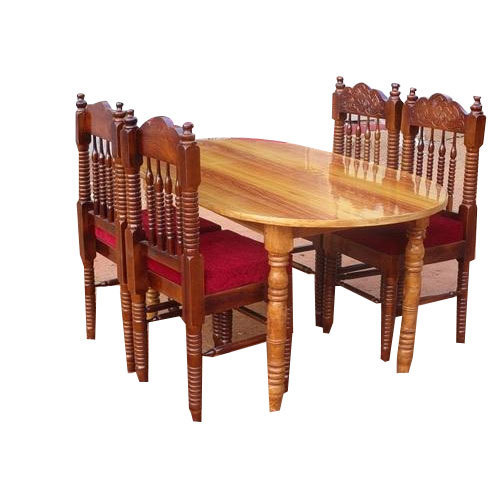 Brown Wooden Dining Table Set, Rs 16000 /set, Royal Furniture | ID