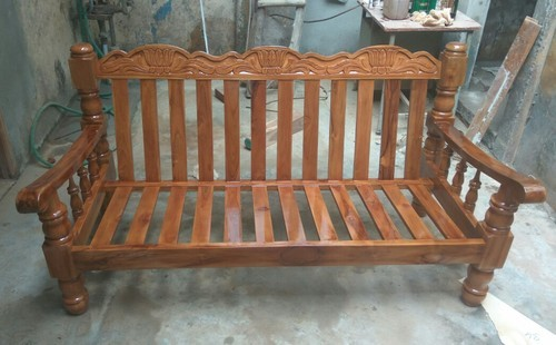 Brown Teak Wood Sofa Set, Rs 17500 /piece, Sri Saravana Furniture