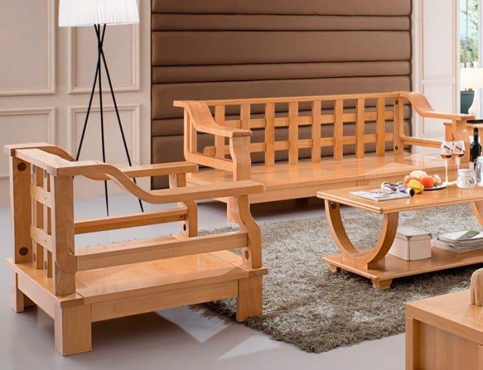 Popular Wood Sofa Furniture   Wearefound Home Design