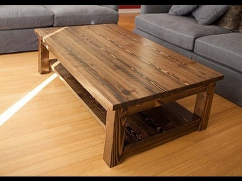 Solid Wood Coffee Table - YouTube