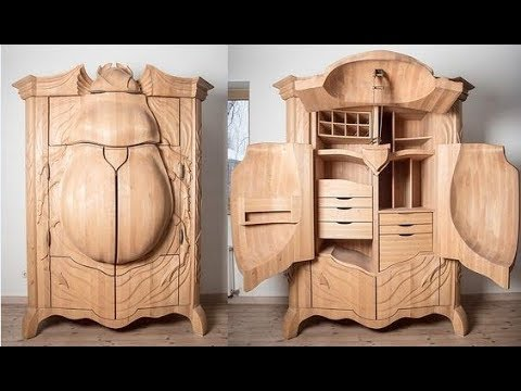 ? Crazy Wooden Furniture. ? 50 Design Ideas! - YouTube