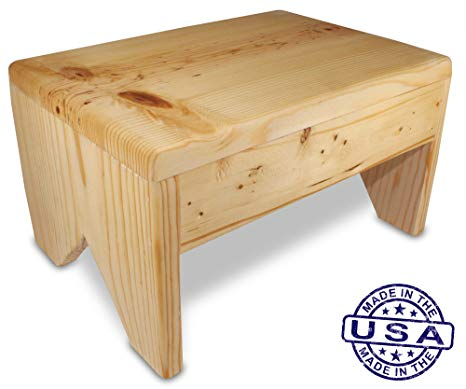 Amazon.com: cutestepstools 8 Inch Solid Wood Step Stool: Kitchen