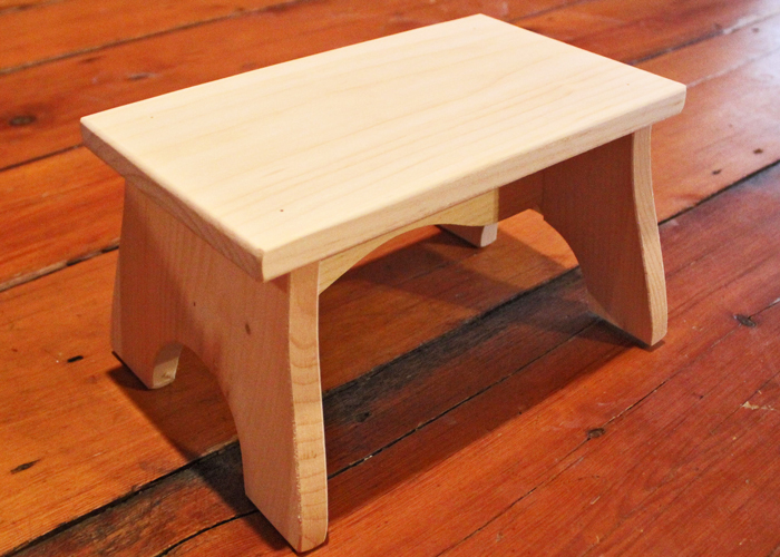 Unfinished Wood Step Stool | Unfinished Stools | Wooden Step Stools