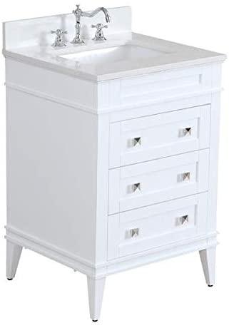 Amazon.com: Eleanor 24-inch Bathroom Vanity (Quartz/White .
