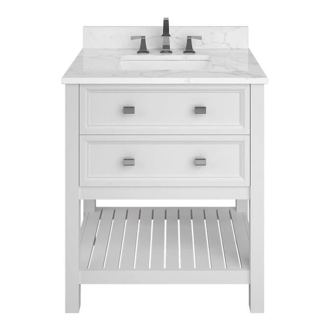 allen + roth Canterbury 30-in White Single Sink Bathroom Vanity .