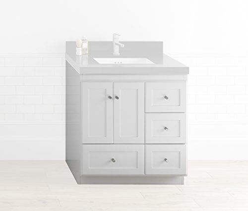 RONBOW Shaker 30 Inch Bathroom Vanity Base Cabinet with Soft Close .