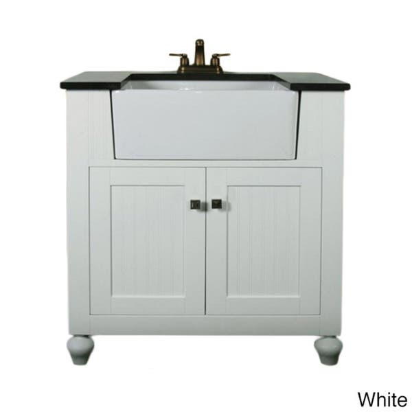 Shop Legion Furniture 30-inch Bathroom Vanity Farmhouse Apron .