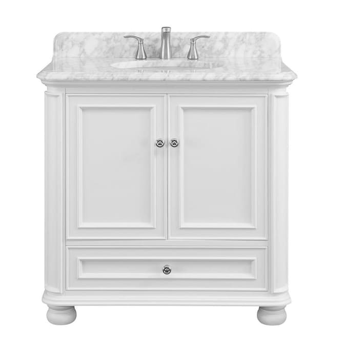 Scott Living Wrightsville 36-in White Single Sink Bathroom Vanity .