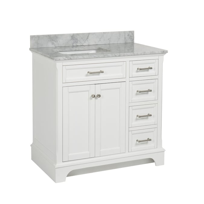 allen + roth Roveland 36-in White Single Sink Bathroom Vanity with .