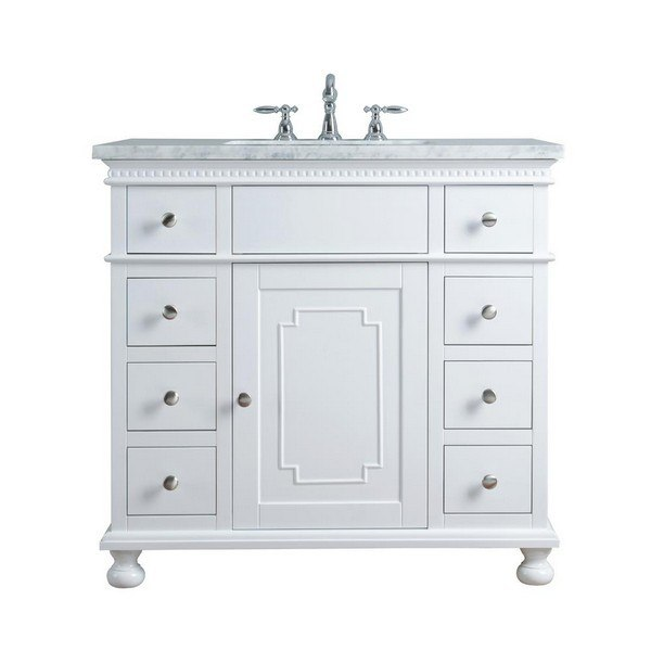 STUFURHOME HD-1013W-36-CR ABIGAIL EMBELLISHED 36 INCH WHITE SINGLE .