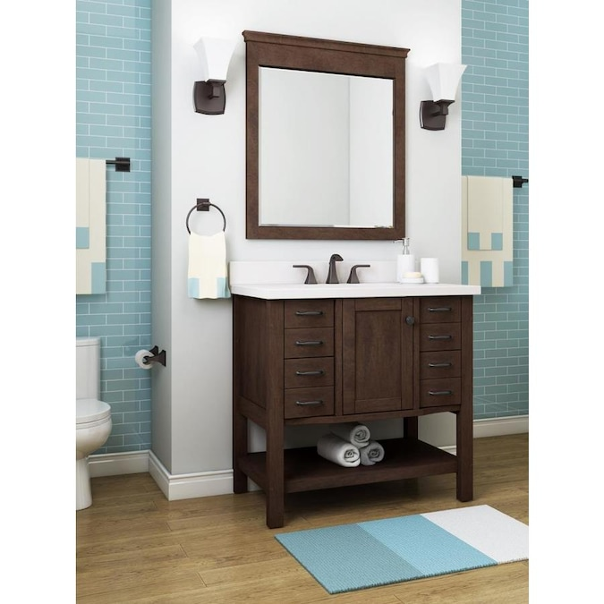 allen + roth Kingscote 36-in Espresso Single Sink Bathroom Vanity .
