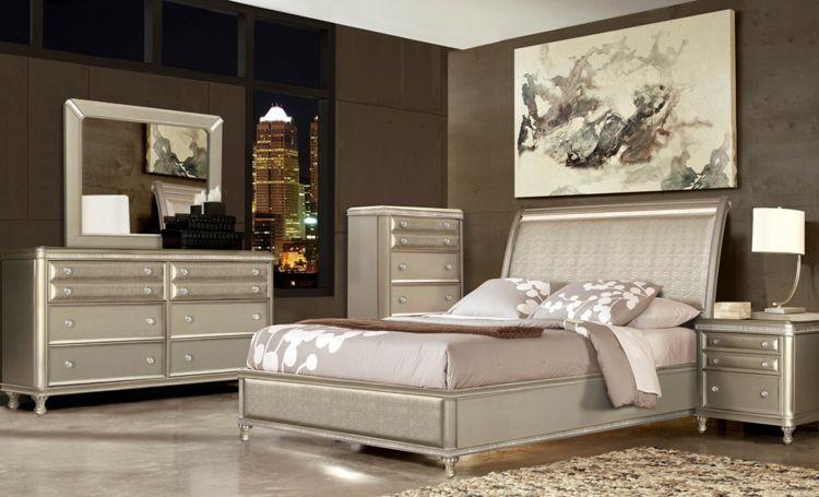 7-Piece Glam Queen Bedroom Collection | Schlafzimmermöbel, Glam .