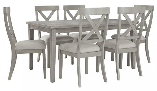 Parellen 7-Piece Dining Room Set | Furniture Deals Onli
