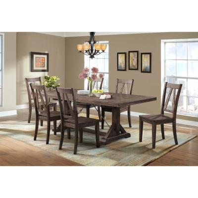 Flynn 7-Piece Dining Set-Table and 6 Wooden Side Chairs DFN100S7PC .