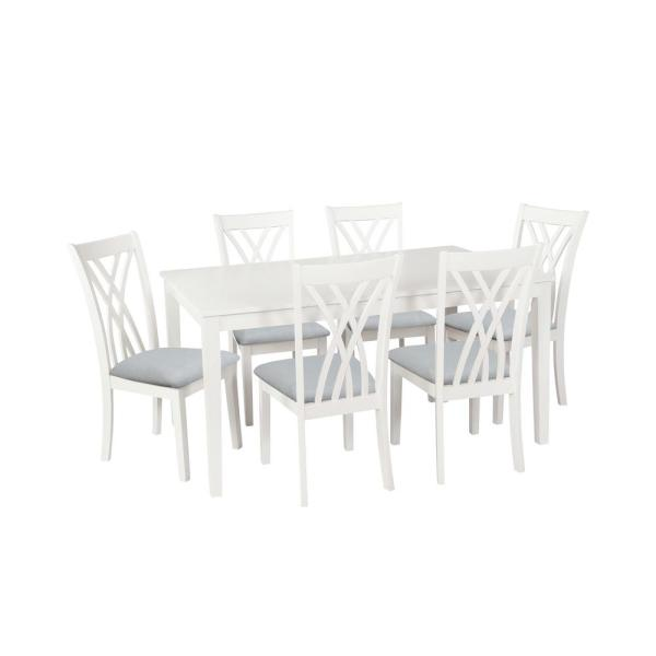 Powell Company Peterson 7-Piece Dining Set-HD1144D19 - The Home Dep