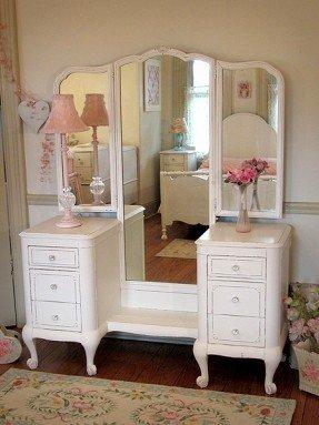 Antique White Vanity Set - Ideas on Fot