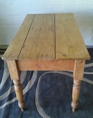 Old farmhouse antique pine kitchen table hall table cottage .