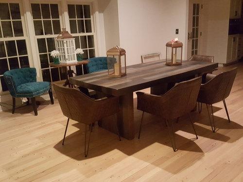 rug or no rug under dining tab
