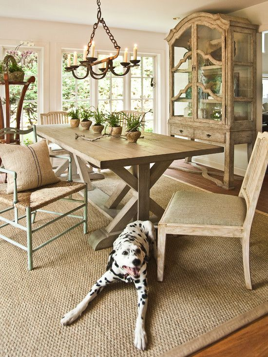 Beige sisal rug. Puppy not included. But I think this is a thought .