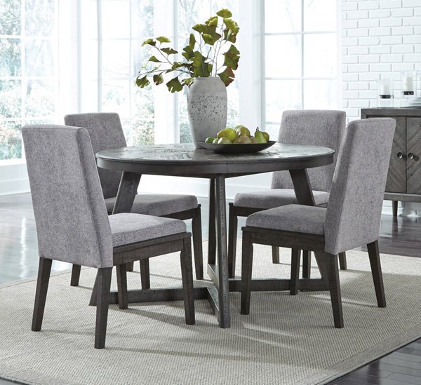 Ashley Furniture Besteneer 5pc Round Dining Room Set | The Classy Ho
