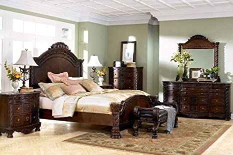 Amazon.com: Ashley Furniture North Shore 6 Piece Panel Bedroom Set .