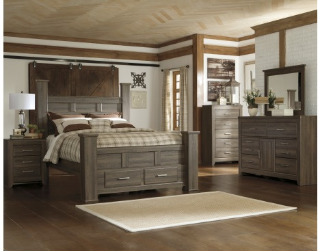 Juarano 6-Piece Queen Bedroom Set w/ Storage by Ashley Furniture .