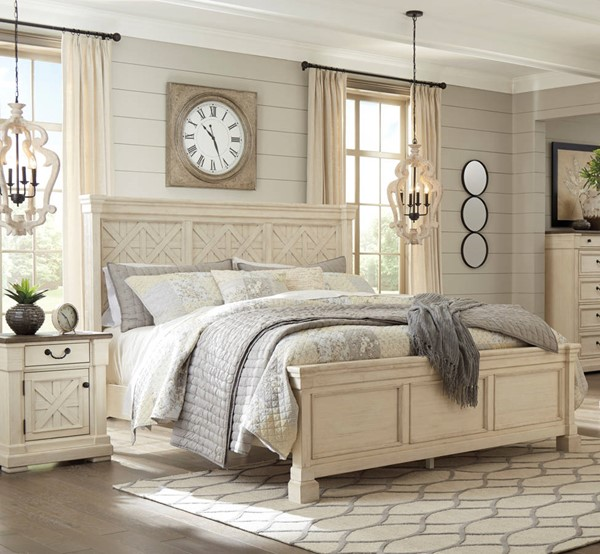 Ashley Furniture Bolanburg White 2pc Bedroom Set With Queen Bed .