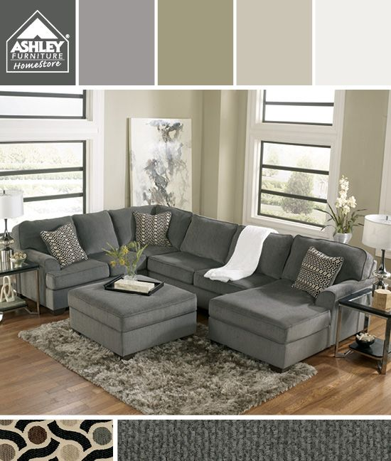Gray + Earth Tones - I'm getting this for my family room! (Loric .