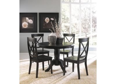 Badcock - Cottage Black Collection Dinette | Small dining room .