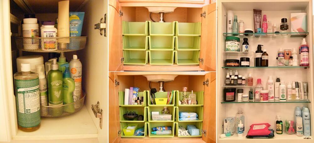 Bathroom Cabinet Organization Ide
