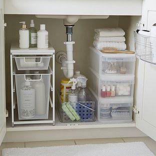 Bathroom Under Sink Starter Kit | Bathroom organization diy .