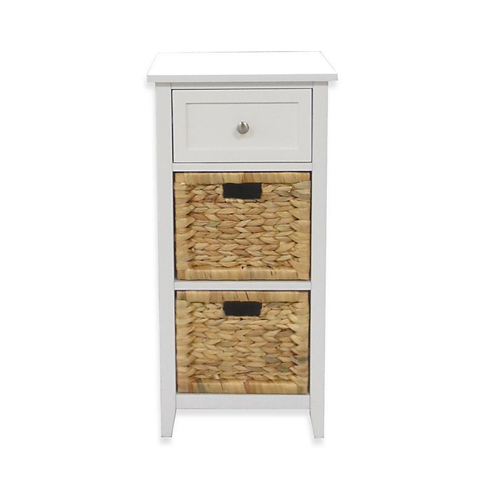 3-Drawers Bathroom Floor Cabinet in White | Bed Bath & Beyo
