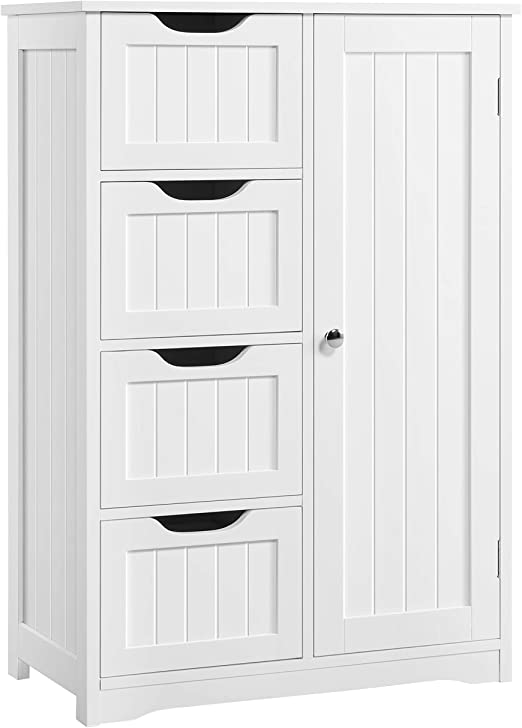 Amazon.com: YAHEETECH Wooden Bathroom Floor Cabinet, Side Storage .