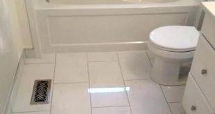24 x 24 large tile small bathroom floor - Google Search | Bathroom .