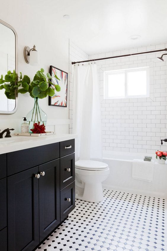 50 Beautiful bathroom tile ideas - small bathroom, ensuite floor .