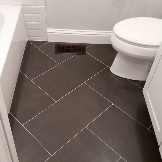 12x24 Tile Bathroom Floor. Could use same tile but different .