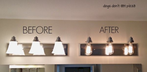 How to Update Your Old Bathroom Light Fixture to Industrial Light .