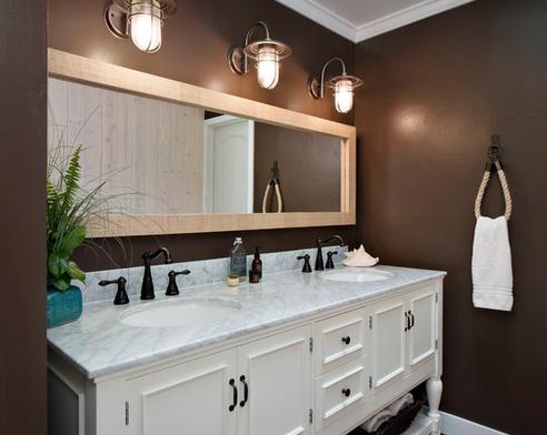 101 Beach Themed Bathroom Ideas - Beachfront Decor | Black .