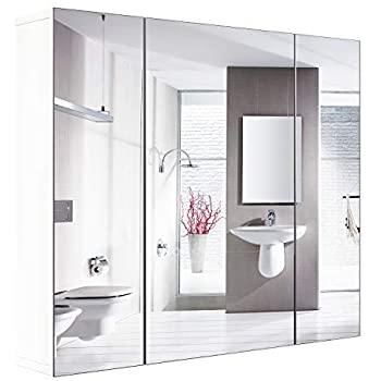 Amazon.com: HOMFA Bathroom Wall Mirror Cabinet, 27.6 X 23.6 Inch .