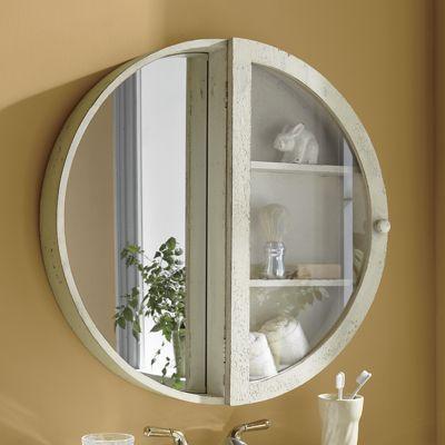 Round Mirror Cabinet | Mirror cabinets, Rustic bathroom designs .